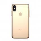Transparent TPU skal till iPhone XS Max, guld