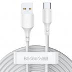 Baseus Simple USB till USB-C kabel, 5A, 40W, 1.5m, 2-pack