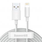 Baseus Simple USB till Lightning-kabel, 5A, 40W, 1.5m, 2-pack