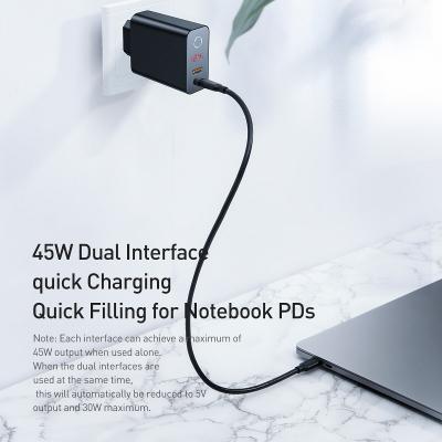 Baseus Speed PPS Laddare QC 3.0, Display, USB‑C, USB‑A, demoex