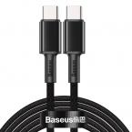 Baseus USB-C till USB-C kabel, snabbladdning, 5A, 2m, svart