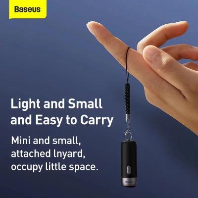Baseus ZLFDQT3‑01 Smart laddningsbar GPS‑spårare, 80mAh, svart
