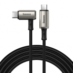 Baseus Hammer vinklad USB-C kabel, PD3.1, 100W, 5A, 1.5m, svart
