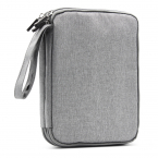 Stor multifunktionell väska i slitstarkt tyg dubbla lager, grå