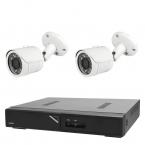 Budget övervakningspaket bullet inom- och utomhus, 2 kameror