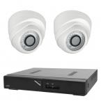 Budget övervakningspaket dome inomhus, 2 kameror