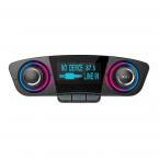 FM-sändare med Bluetooth-handsfree och billaddare, A2DP