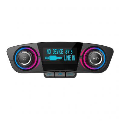 FM‑sändare med Bluetooth‑handsfree och billaddare, A2DP