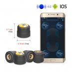 Bluetooth luftpump för bildäck med trycksensor-system