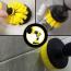 Borstset till skruvdragare för rengöring av badrum, 3 delar