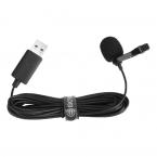Boya Lavalier USB-slipsmikrofon, 4m kabel, svart