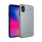Hybrid skal med kortplats, iPhone XS Max, grå