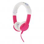 BuddyPhones Explore Vikbara barnhörlurar med mikrofon, rosa