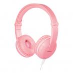 BuddyPhones Play trådlösa barnhörlurar, Bluetooth, rosa