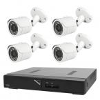 Budget övervakningspaket bullet inom- och utomhus, 4 kameror