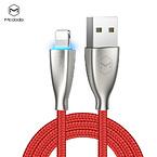 McDodo CA-5701, USB-A till Lightning, LED, 2.4A, 1.2m, röd