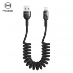 McDodo CA-6410 Flexibel Lightningkabel med LED, 2A, 1.8m, svart