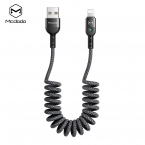 McDodo CA-6411 Flexibel Lightningkabel med LED, 2A, 1.8m, grå