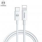 McDodo CA-7090 USB-C till Lightningkabel, PD, QC, 1m, vit