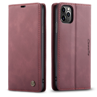 CaseMe plånboksfodral, iPhone 11 Pro Max, vinröd
