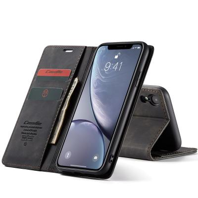 CaseMe plånboksfodral med ställ till iPhone XR, svart