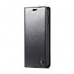 CaseMe läderfodral, ställ, Samsung Galaxy S10E, svart