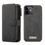 CaseMe läderfodral med magnetskal, iPhone 12 Mini, svart