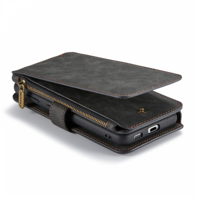 CaseMe 007 plånboksfodral med magnetskal, Samsung S21, svart