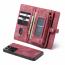 CaseMe 008 Series läderfodral, Samsung S21 Ultra, röd