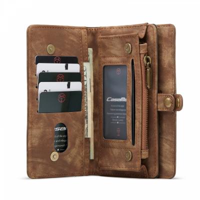 CaseMe 008 Series läderfodral, Samsung S21 Ultra, brun