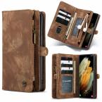 CaseMe 008 Series läderfodral, Samsung S21 Plus, brun