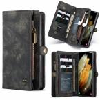 CaseMe 008 Series läderfodral, Samsung S21 Plus, svart