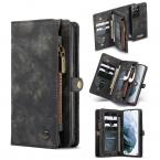 CaseMe 008 Series läderfodral, Samsung S21 Ultra, svart