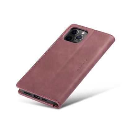 CaseMe 013 Series läderfodral till iPhone 12 Pro Max, röd