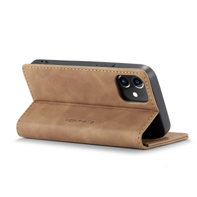 CaseMe 013 Series läderfodral till iPhone 12 Mini, brun
