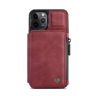 CaseMe C20 Series läderfodral till iPhone 12 Mini, röd