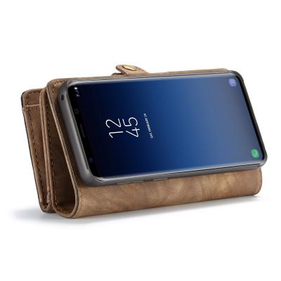 CaseMe plånboksfodral magnetskal, Samsung Galaxy S9, brun