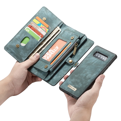 CaseMe plånboksfodral med magnetskal, Samsung Galaxy S10, blå