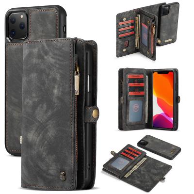 CaseMe plånboksfodral med magnetskal till iPhone 11 Pro, svart