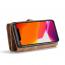 CaseMe plånboksfodral med magnetskal, iPhone 11, brun