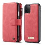 CaseMe plånboksfodral med magnetskal till iPhone 11, röd