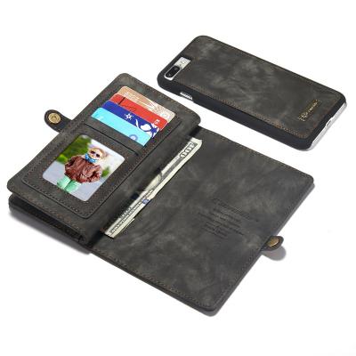 CaseMe plånboksfodral med magnetskal, iPhone 7/8 Plus, svart