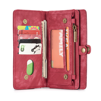 CaseMe plånboksfodral med magnetskal, iPhone X/XS, röd