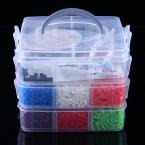 Pärlkit för barn, 12 färger, 5mm, 9000 delar