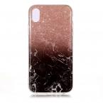 Trendigt marmorskal med mönster, iPhone XR 6.1, svart/brun