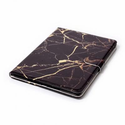 Läckert marmorerat läderfodral, iPad 10.2/10.5/Air 3, svart