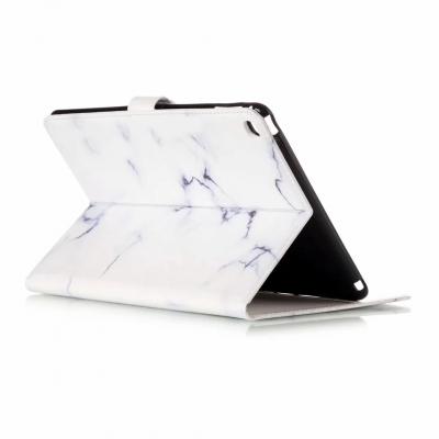 Läckert marmorerat läderfodral, iPad 10.2/10.5/Air 3, vit