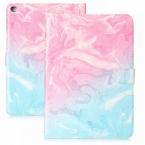 Läckert marmorerat läderfodral, iPad 10.2/10.5/Air 3, rosa/blå