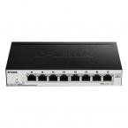 D-Link DSG-1100 08PV2 switch, fläktlös, PoE, 8 portar, 16Gbps