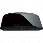 D-Link Switch 8x10/100Mbps, NWay, Uplink, bordsmodell, svart